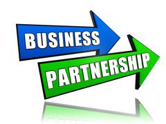 Business partnership in arrows Stock Illustration