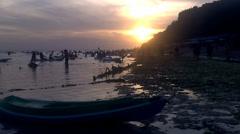 Small Boat at beach, Bali. Stock Footage