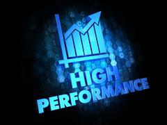 High Performance Concept on Digital Background. Stock Illustration