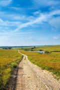 pathways through the flint hills - stock photo