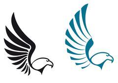 Eagle symbols Stock Illustration
