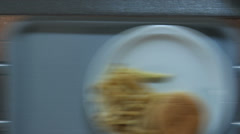 Cafeteria line close up Stock Footage