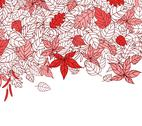 Stock Illustration of red autumn leaves background