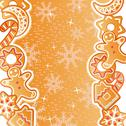 Stock Illustration of gingerbread background