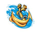 Stock Illustration of anchor in sea