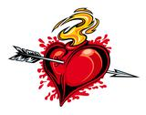 Stock Illustration of heart with arrow