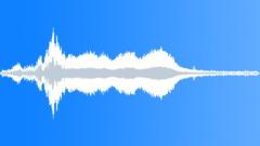 Freight train crossing bridge stereo Sound Effect