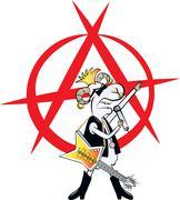 Punk rocker ram Stock Illustration