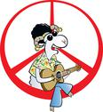 Peace forever! hippie ram Stock Illustration