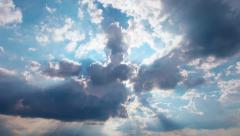 Sky and clouds. 4K. FULL HD, 4096x2304. Stock Footage