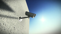 Surveillance camera - stock footage