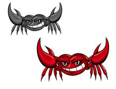 Red crab with claws Stock Illustration