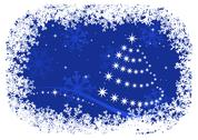 Stock Illustration of christmas holiday background with snowflakes