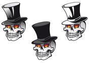 Stock Illustration of skull in hat