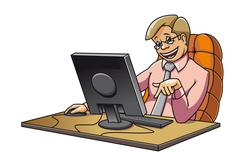 Young manager in office Stock Illustration