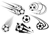 Stock Illustration of football and soccer symbols and mascots