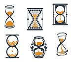 Stock Illustration of sandglass symbols