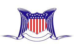 Usa heraldry symbol Stock Illustration
