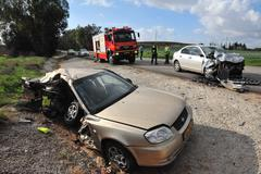 Car accidents in israel Stock Photos