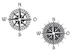 compass symbol - stock illustration