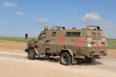 Military army ambulance Stock Photos