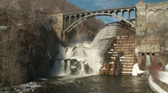 New Croton Dam Spillway 3 Stock Footage