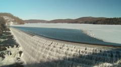 New Croton Dam Reservoir and Spillway 1 Stock Footage