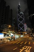 bank of china tower in hong kong special administrative region in china - stock photo