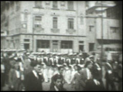 1286 Naval parade in Valparaiso, Chile Stock Footage