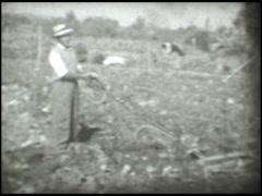 1887 Farmer 50s decade Stock Footage
