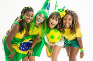 Stock Photo of joy of brazilian cheerleaders