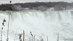 Bridal Veil Falls (Niagara Falls) -  U.S. side - Winter Stock Footage