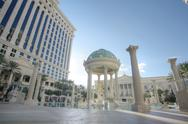 Stock Photo of las vegas, feb 3: caesar palace hotel temple pool in las vegas, february 3, 2