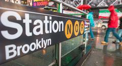 New york city. manhattan metro merkkejä ja ohjeita Kuvituskuvat