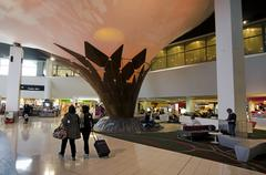 auckland international airport - stock photo