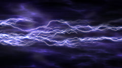 Abstract background with electric arcs - stock footage