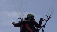 Stock Video Footage of Tandem, Passengers, Instructor, Parasailing