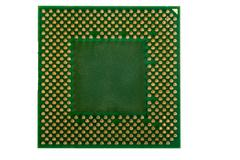 macro of computer processor isolated - stock photo