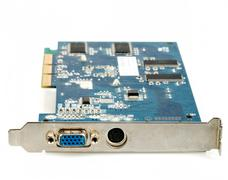 vga computer graphic card isolated - stock photo