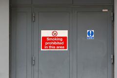 Smoking prohibited Stock Photos