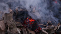 Closeup shot of Smoke in the factory Stock Footage