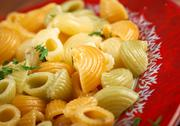 Stock Photo of colorful italian conchiglie  pasta