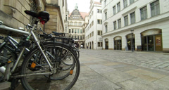 Dresden streets at winter - stock footage