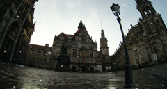 Historical center of Dresden Germany at winter - stock footage