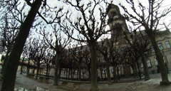 Historical center of Dresden Germany at winter Stock Footage