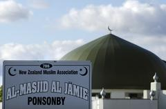 al masjid al jamie mosque in ponsonby auckland new zealand nz nzl - stock photo