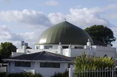 al masjid al jamie mosque in ponsonby auckland new zealand nz nzl - stock photo