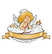 love angel cupid for valentine's day - stock illustration