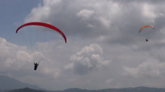 Double, Pair, Two, Tandem, Parasail, Extreme Sports Stock Footage