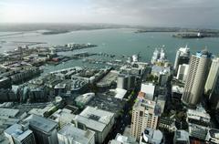 Auckland cbd cityscape - new zealand nz Stock Photos